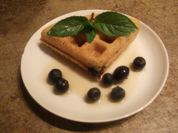Blueberry Whole Wheat Waffles