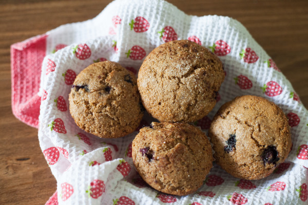 Amazing whole wheat blueberry muffins