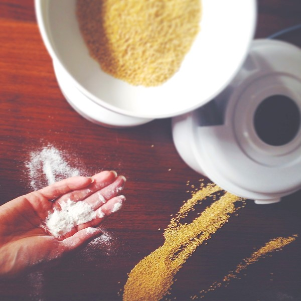 Homemade Millet and Oat Flour