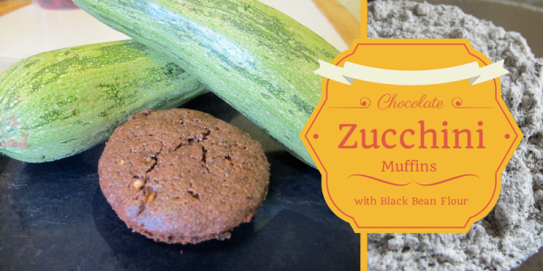 Chocolate Zucchini Muffins with Black Bean Flour