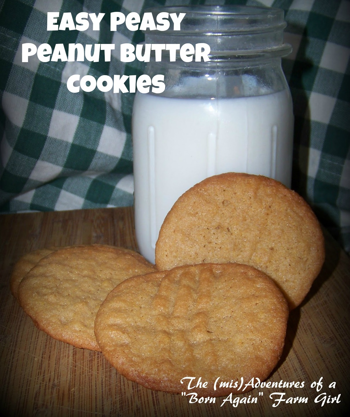Easy Pease Peanut Butter Cookies