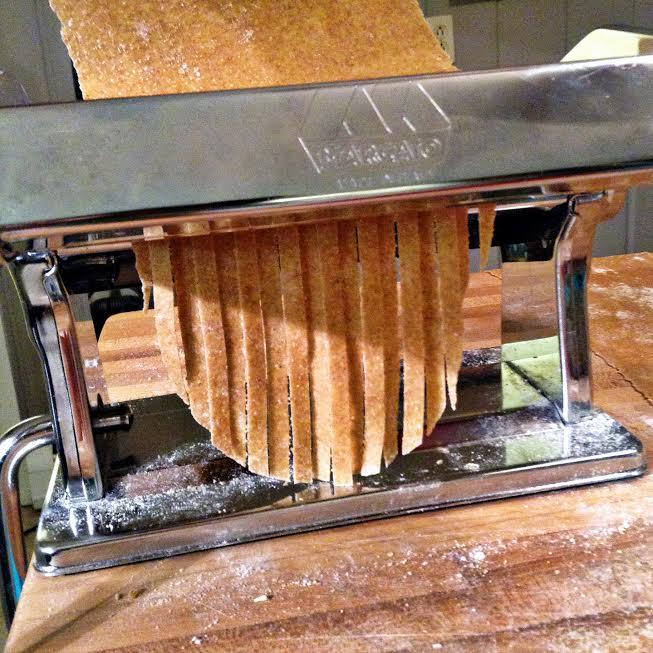 cutting noodles