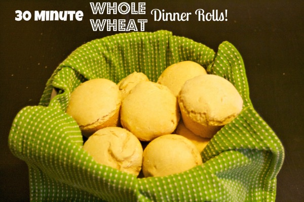 30 Minute Whole Wheat Dinner Rolls