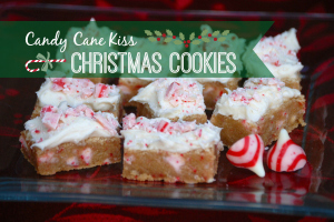 Candy Cane Kiss Christmas Cookies