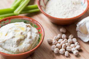 Quick Garbanzo Flour Hummus