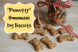 """Peanutty"" Homemade Dog Biscuits"