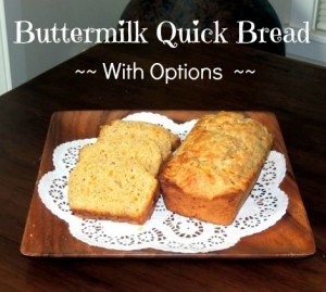Buttermilk Cheese Bread with Options