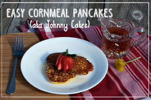 Change your breakfast weary ideas of what pancakes can be and create these whole-grain cornmeal pancakes for your family!