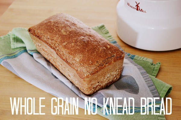 Easy Whole Grain No Knead Bread