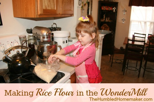 Making Rice Flour