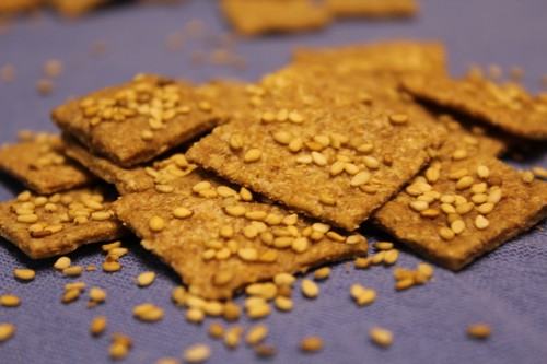 Dehydrated Whole-Grain Crackers